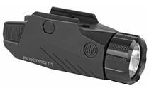 SIG SAUER FOXTROT1 100/200/300 Lumen LED White Light M1913 Rail Compatible CR123 Battery Matte Black Rail Mounted Tactical Flashlight (SOF11001)