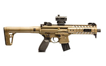 SIG SAUER MCX .177 Caliber 30rd CO2 Powered Vertical Foregrip Adjustable Sights Metal Housing Polymer Stock FDE MCX Semi-Automatic Air Rifle (MPXMRD17788G30F)