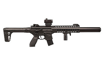 SIG SAUER MCX .177 Caliber 30rd CO2 Powered Vertical Foregrip Adjustable Sights Metal Housing Polymer Stock Matte Black MCX Semi-Automatic Air Rifle (MCXMRD17788G30B)