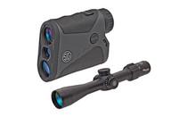 SIG SAUER Sierra3 BDX Ballistic Data Xchange 30mm Tube 3.5-10x 42mm BDX-R1 Digital Ballistic Reticle Rifle Scope with KILO1400BDX Laser Range Finder Combo (SOK14BDX01)