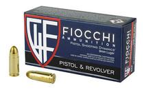 FIOCCHI 9mm 115 Grain 50rd Box of Full Metal Jacket Centerfire Pistol Ammunition (9AP)