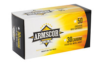 ARMSCOR .30 Carbine 110 Grain 50 Round Box of Full Metal Jacket Rifle Ammunition (ARMFAC30C-1N)