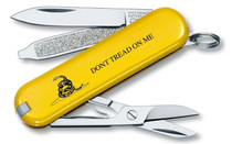 VICTORINOX SWISS ARMY Classic SD 2.3in Yellow Don't Tread On Me Cellidor Handle Multi-Tool (53076)