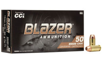 BLAZER 10mm 180 Grain 50rd Box of Full Metal Jacket Pistol Ammunition (5221)