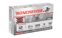 "WINCHESTER Super X 12 Gauge 2.75"" 00 Buck 5 Round Box of Nine Pellet Lead Shot Shell Ammunition (XB1200)"