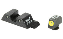 TRIJICON HD Night Sight Set For GLOCK Three Dot Tritium Green With Front Dot Yellow Outline Steel Matte (GL101Y-600540)