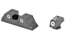 TRIJICON Bright & Tough Night Sights For GLOCK Three Dot Green Font and Rear Sights Matte Black (GL04-600227)