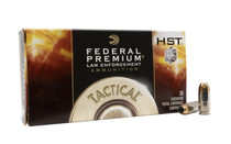 FEDERAL Premium LE 40SW 180 Grain HST Jacketed Hollow Point Box of 50 Centerfire Ammunition (P40HST1)