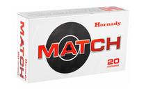 HORNADY Match 6mm Creedmoor 108 Grain 20 Round Box of ELD Match Rifle Ammunition (81391)