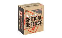 HORNADY Critical Defense 45 ACP 185 Grain 20 Round Box of FlexTip Pistol Ammunition (H90900)