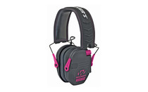 WALKER'S Razor Slim Low Profile Electronic Earmuffs Padded Headband Soft PVC Earpads Pink (GWP-RSEM-PNK)