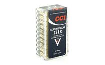 CCI Suppressor 22LR 45 Grain 50 Round Box of HP Rimfire Ammunition (CCI957)