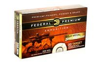 FEDERAL Gold Medal Sierra MatchKing 308 Winchester 168gr 20RD Box of BTHP Rifle Ammunition (GM308M)