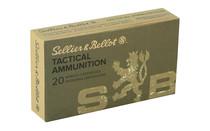 SELLIER & BELLOT 140 Grain Full Metal Jacket 20 Round Box of 6.5 Creedmoor Rifle Ammunition (SB65A)