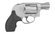 """SMITH & WESSON Model 638 Airweight Revolver .38 Special +P 1.875"""" Barrel 5 Rounds Alloy J-Frame Synthetic Grip Matte Silver Finish (163070)"""