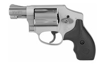 SMITH & WESSON Model 642 Airweight .38 Special +P J-Frame 5 Rounds Alloy Stainless Steel Black Rubber Grips Revolver (163810)