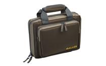 """ALLEN Tactical Duoplex Attache Green Polyester 11.5""""X9"""" Soft Tricot Lining Lockable Zipper Dual Pistol Case (7602)"""
