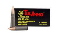 TULAMMO 7.62x39mm 122 Grain 40rd Box of Steel Full Metal Jacket Centerfire Rifle Ammunition (UL076240)