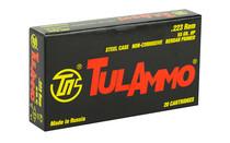 TULAMMO .223REM 55 Grain Hollow Point (Bi-Metal) Steel Case 20rd Box of Centerfire Rifle Ammunition (TA223552)
