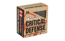 HORNADY Critical Defense .25 ACP 35Gr 25Rd Box of FTX Handgun Ammunition (90014)
