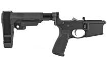 BRAVO COMPANY 556 Pistol Lower Group with SBA3 Pistol Brace Black (LRG-SBA3-BLK)