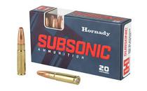 HORNADY .300 Blackout Subsonic PT 190 Grains 20 Round Box of Centerfire Rifle Ammunition (80877)