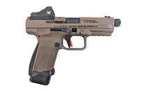 CANIK TP9SF Combat 9mm 2x Mags 18Rd Semi-Automatic Striker Fired Pistol w/ Vortex Viper Red Dot & Holster FDE (HG4617DV-N)