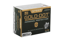 SPEER Gold Dot 40SW 180Gr 20Rd Box of HP Personal Protection Handgun Ammunition (23962GD)