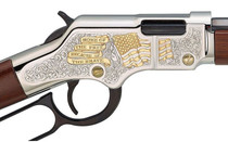 "HENRY Golden Boy God Bless America 22LR 20"" Octagonal Barrel 16Rd Walnut Stock (H004GBA)"
