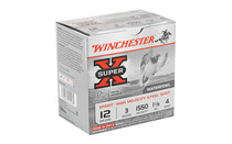 WINCHESTER Xpert HI-Velocity Steel 12 Gauge 3in #4 1 1/8 oz 25 Round Box of Shotshell Ammunition (WEX1234)