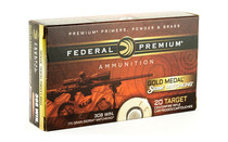 FEDERAL Gold Medal Match 308 Winchester 175 Grain Boat Tail Hollow Point 20 Round Box of Centerfire Rifle Ammunition (GM308M2)