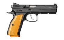 "CZ Shadow 2 9mm 4.89"" Barrel 17Rd Full Size DA/SA Semi-Automatic Psitol with Orange Aluminium Grips & Fiber Optic Front Sights (91249)"