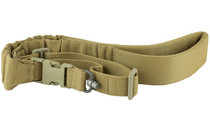 BLUE FORCE GEAR UDC Padded Single Point With Push Button Adapter Coyote Brown Bungee Sling (UDC-200-BG-PB-CB)