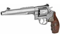 "SMITH & WESSON 629 Performance Center 44Magnum 7.5"" Barrel 6Rd Large Steel Frame Double Action Revolver Stainless Finish Wood Grips (170181)"