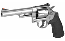 SMITH & WESSON 629 Double Action 44Mag 6rd 6in Barrel Stainless Steel Frame Adjustable Rear Sight Rubber Grip Large Frame Revolver (163606)