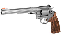 "SMITH & WESSON M629 Performance Center .44 Magnum 8.4"" Fluted Barrel 6Rd Large Steel Frame Double Action Revolver Stainless Finish Wood Grip (170334)"