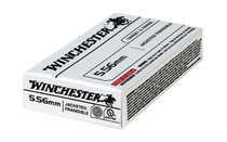 WINCHESTER 5.56NATO 50Gr 20Rd Box of Jacketed Frangible Lead Free FMJ Rifle Ammunition (USA556JF)