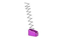 TTI Firepower +2 Base Pad For Glock 43 Titanium Purple (GBP9-08)