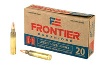 HORNADY Frontier Cartridge 223 Rem 55 Grain 20rd Box of Full Metal Jacket Rifle Ammunition (FR100)