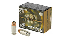 FEDERAL PREMIUM Personal Defense Punch 45 ACP 230Gr Jacketed Hollow Point 20 Round Box of Centerfire Ammunition (PD45P1)
