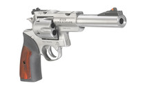 RUGER Super Redhawk 10mm 6.5in Barrel Rubber with Hardwood Insert Grips 6rd Adjustable Rear Sight & Fixed Red Ramp Insert Front Sight Double Action Revolver (05524)