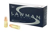 SPEER Lawman 9mm 147Gr 50Rd Box of TMJ Flat Nose Handgun Ammunition (53620)
