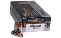 SIG SAUER 9mm V-Crown 124Gr 50 Round Box of JHP Handgun Ammunition (E9MMA2-5)
