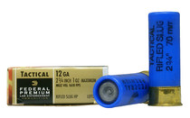 FEDREAL Premium LE 12Ga 2-3/4in Hydra-Shok HP 5 Rounds of Rifled Slug Shotshell Ammunition (LE127RS)