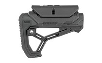 FAB DEFENSE AR15 Buttstock with Adjustable Cheek Rest Black (FX-GLCORECPB)