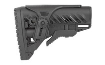 FAB DEFENSE AR15 Tactical Buttstock with Adjustable Cheek Rest Black (FX-GLR16CP)