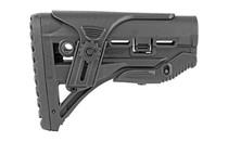 FAB DEFENSE M4/M16 Shock Absorbing Buttstock with Cheek Rest fits AR Rifles (FX-GLSHOCKCP)
