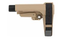 SB TACTICAL SBA3 6 Position with Carbine Receiver Extension Stabilizing Pistol Brace FDE (SBA3-02-SB)
