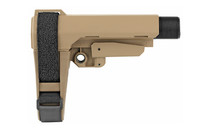 SB TACTICAL SBA3 6 Position with Carbine Receiver Extension Stabilizing Pistol Brace FDE (SBA3-02-SB)