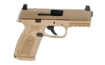 FNH FN509 Midsize MRD 9mm Luger 4in Barrel 15 Rounds Red Dot Compatible Ambidextrous Controls Polymer Frame FDE Semi Auto Pistol (66-100741)